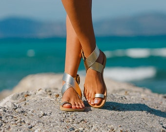 Sandals,Leather sandals,Ankle strap sandals,Greek sandals,Handmade women shoes,Summer sandals,Triskelion,DIONE,