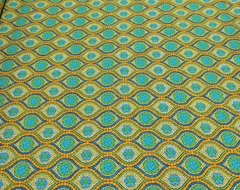 Art Glass-Orange and Yellow Cotton Fabric from P&B Textiles