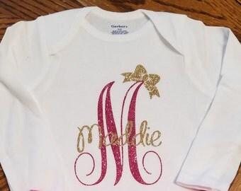 Personalized Glitter Shirt/Onesie