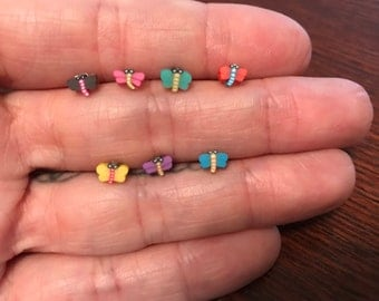 Hypoallergenic Mini Dragonfly plastic post earrings *Perfect for toddler/small/sensitive ears*