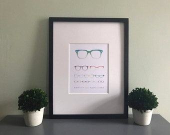 Eyeglass Eye Chart Print
