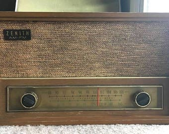 WORKING TESTED CLEANED Antique Vintage 1940s-50s A.M./F.M. Zenith Model C730E Radio