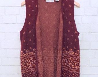 Vintage Vibrant Winter Vest