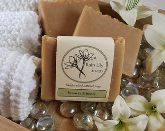 Beeswax & Honey Soap, Natural Soap, Handcrafted Soap, Natural Bar Soap, Essential Oil Soap