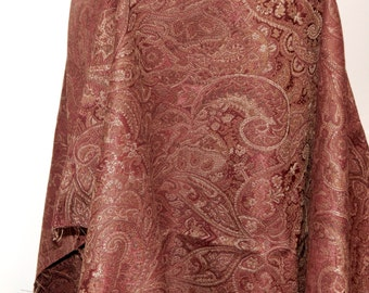 Home Dec Vintage Red Shimmery Brocade Fabric