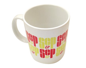 SC&P Mug From Mad Men TV Show Coffee Cup Don Draper Sterling Cooper And Partners SCP Sc And P Series Advertising Agency Tea Gift 11 oz White