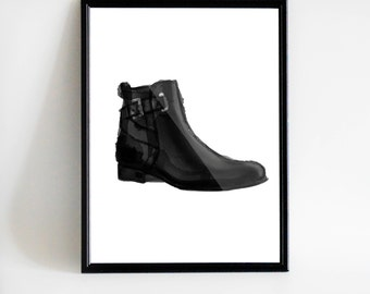 Poster Shoe | Boot | Digital art | Instant Download | Printable art | Print