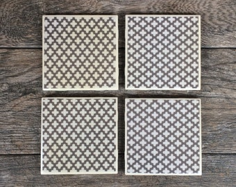Gray Moroccan Style Coasters