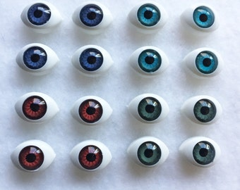 16pcs mixed color eyeball cabochons (always in pairs) eyeball beads eye cabochons doll eyes flatback eye cabochons CA030