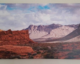 18x32 Valley of Fire Canvas Art