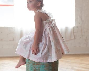Girls Mermaid Dress - Toddler Mermaid Dress - Pink Mermaid Dress - Mermaid Sundress - Beach Dress - Mermaid Beach Dress  - Twirl Dress