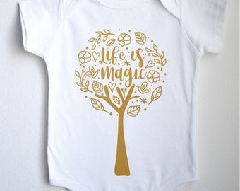 Life Is Magic Baby 1sie One-piece Bodysuit