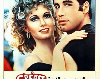 Grease Movie Poster  A3/A2/A1 Print