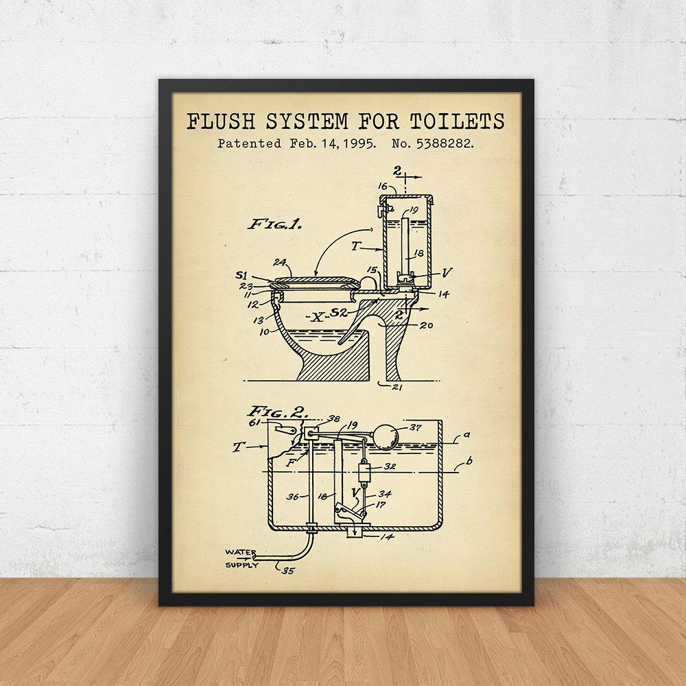 bathroom poster flush system for toilets patent art. Black Bedroom Furniture Sets. Home Design Ideas