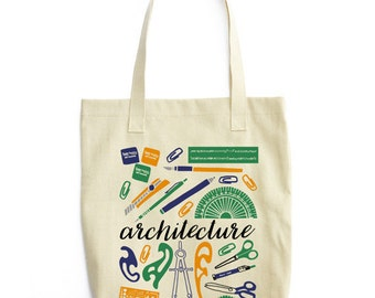 Gift for Architect, Architect Tote Bag, Architect Bag, Architect Gift, Architecture Gifts, Architecture Student Gifts, Reusable Tote Bag,
