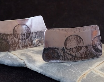 Handmade Oxidised Silver Cufflinks