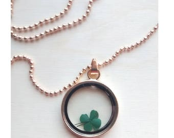 Hanger and chain of the luck, Clover of the luck, Protective hanger, amulet