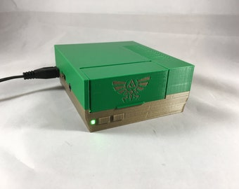 Raspberry Pi Case Zelda NES Nintendo with LED - Zelda Theme - 2B or Pi 3