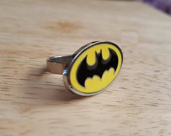 Batman ring Stainless Steel / stainless steel Batman ring