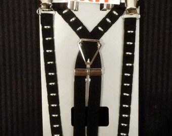 Silver Stud Suspenders