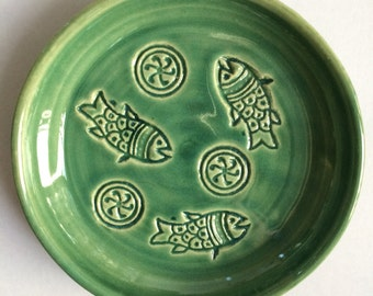 Small Clay Plate,  Snack Plate, Spoon Rest, Jewelry Dish, Handmade and Ready to Ship