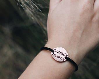 Longitude Latitude Bracelet, Custom Coordinates, Coordinate Bracelet, GPS Coordinate Bracelet, Dainty Bracelet, Coordinate Jewelry