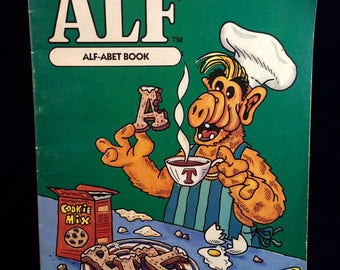 Alf - Alfabet Book - 1987 - new vintage retro 80s Alf alphabet coloring and activity book - New never used!