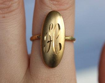 Monogram H Ring