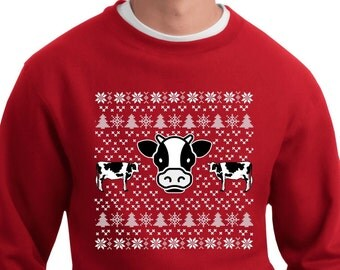 Cow Ugly Sweater - Christmas Sweatshirt - Ugly Sweater - Ugly Sweater Contest