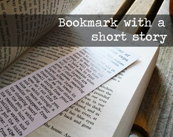 Unique Paper Bookmark, Short Story Bookmark, Book-in-Bookmark, Book Lover Gift, Bookworm Gift, Short Story, Keymarks