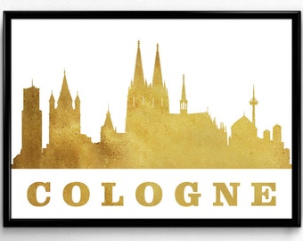 Cologne Skyline, Travel, City Skyline, Poster, Room Decor, gift, Poster, Room Decor, printable wall art (55)