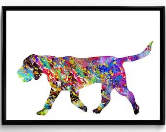 Beagle,Dog Watercolor, Animal Poster, Watercolor Print, Animal art, Poster, Room Decor, gift, print, wall art (55)