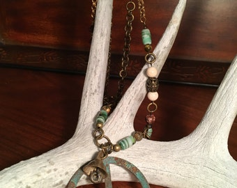"Peace Sign 24"" pendant assemblage"