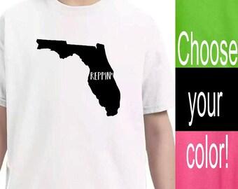 Youth Clothing, Florida State Shirt, Kid Toddler Shirts, Baby Onesie, Unisex kids, Pink Lime Green Black White Shirts, Kid tshirt