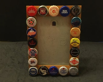 4 x 6 beer cap picture frame