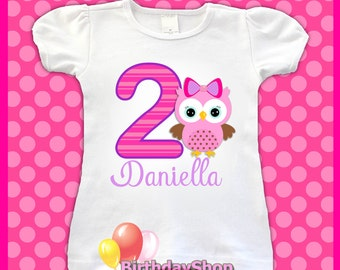 Owl Birthday Tee Shirt / 1st, 2nd, 3rd, 4th, Birthday Shirt / Girls Owl Birthday Shirts / Cute Owl Birthday Shirt for girls, Owl Shirt
