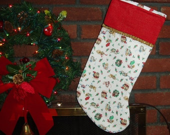 Christmas Stockings With Kittens and Puppies