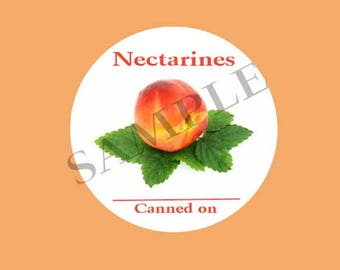 Nectarines Round Canning Label #L362