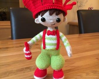 Crochet Circus Juggling Boy