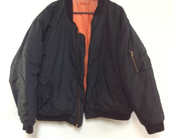 Vintage bomber jacket Phenom orange lining