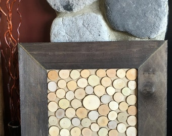 Rustic Wedding Guestbook Alternative Wood Slices Frame Guest Book