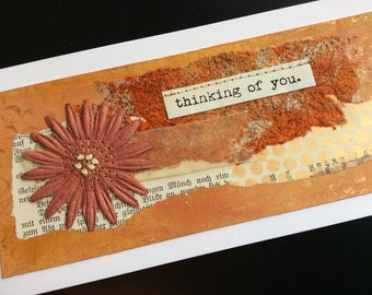 Handmade Art Card - Thinking of You