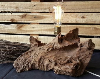 Unique Drifwood Edison lamp