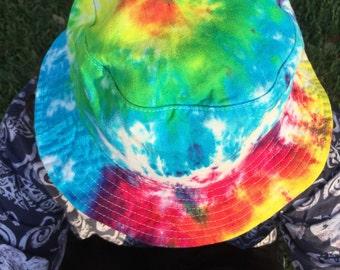 Bucket hat / Handmade tie dye / One size