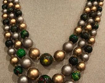 Vintage three strand necklace