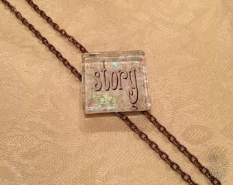 Not Just Words Necklace 'Story'