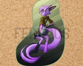 DreamKeepers Vi Sticker - Web Comic Stickers - Furry Community - Anthro Decals