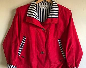 90s Vintage Red Jacket Size Medium