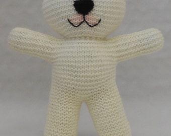 Basic Knitting Pattern For Teddy Bear : Easy teddy bear Etsy