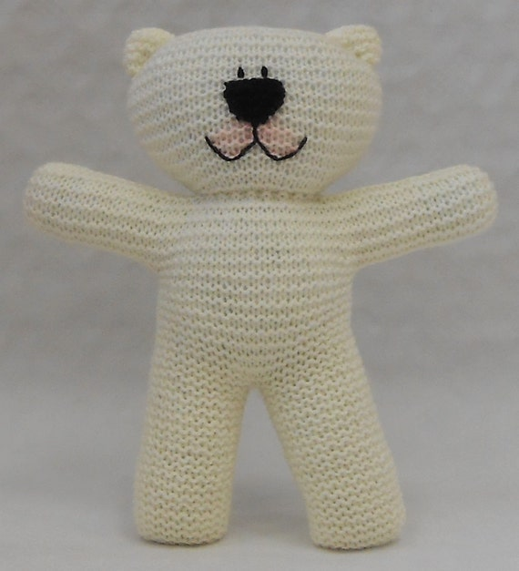 Knitting Instructions For Beginners Pdf : Easy to knit teddy bear pdf pattern suitable for beginner